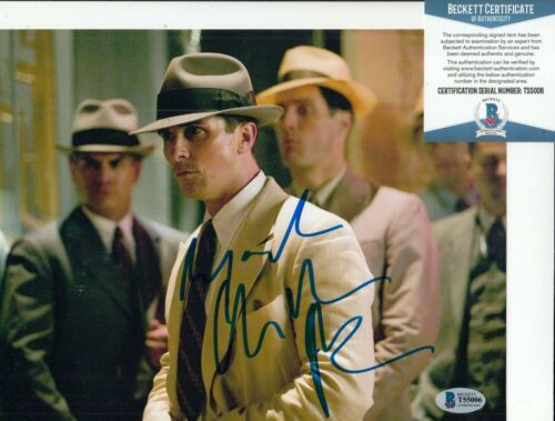 CHRISTIAN BALE signed (PUBLIC ENEMIES) Movie 8X10 photo BECKETT BAS T55006