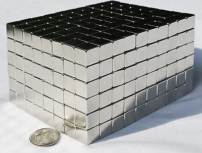 50 Magnets 5mm X 5mm 316 Cubes Strongest Possible N52 Neodymium - Us Seller