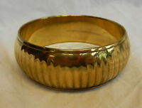 Hand Made Ribbed / Bevelled Indian Brass Bangle - -  - ebay.co.uk