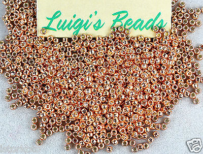 11/0 TOHO Glass Seed Beads #PF551- Permanent Finish Galvanized Rose Gold 10g