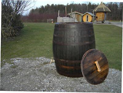 gebrauchtes Whiskyfaß Regentonne Wasserfass 600L Holzfaß Gartenfaß Eichenfaß Faß