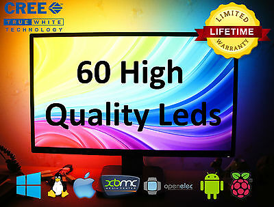 60 RGB CREE UltraBright LEDs LightPack strip TV backlight usb Ambilight Boblight