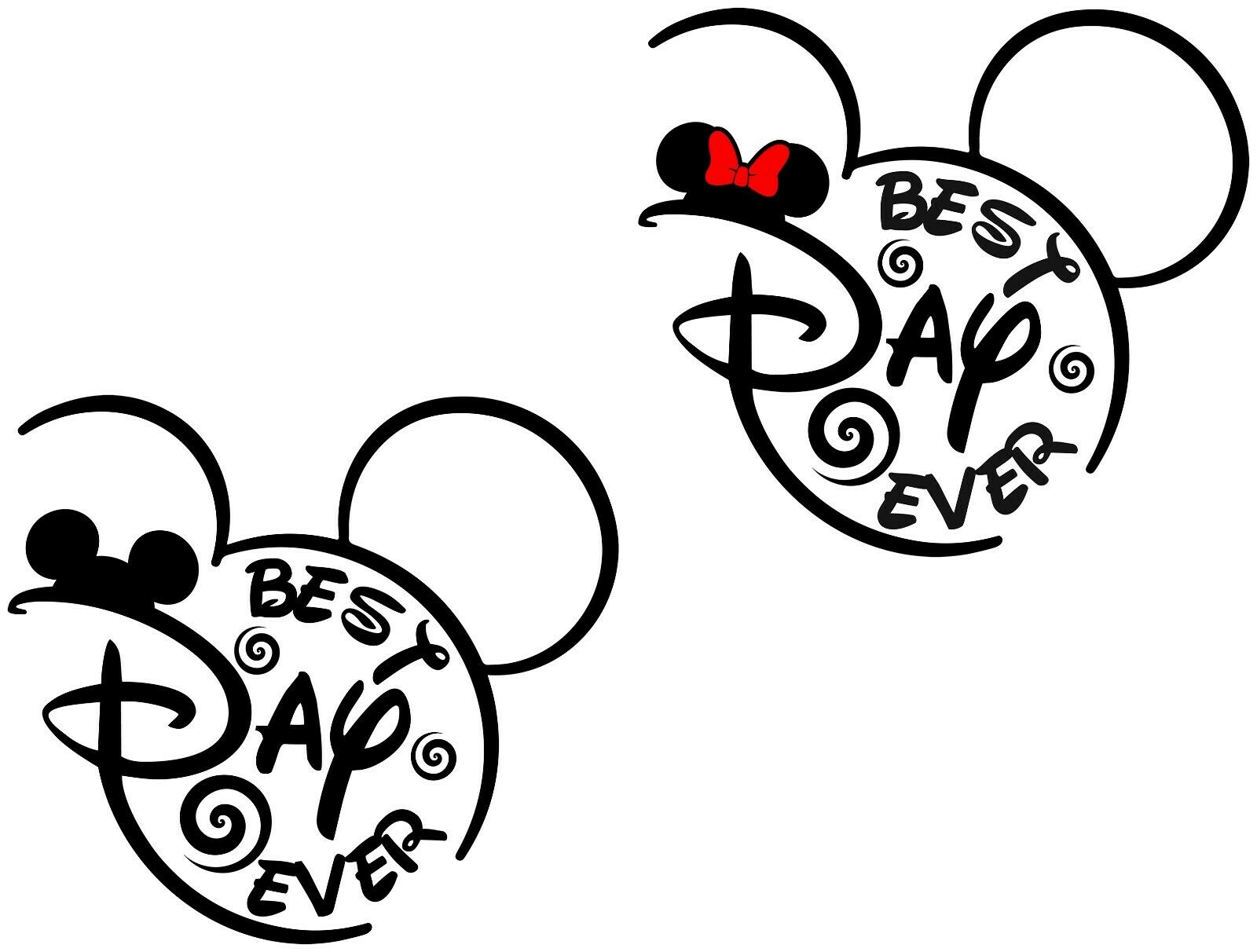 Disney Best Day Ever Iron On TransferTShirt Light Dark Color Fabrics 24
