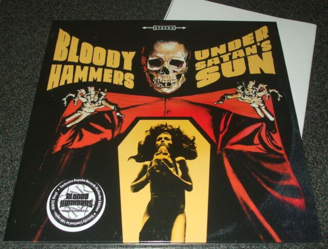 BLOODY HAMMERS-UNDER SATAN'S SUN-2014 LP DIEHARD WHITE VINYL-100 ONLY-BRAND NEW