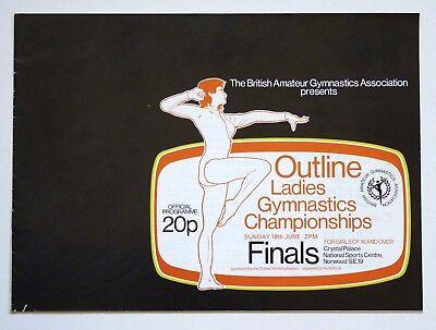 BAGA + Outline Ladies Gymnastics Champs Programme June 1978 (Gymnast Magazine)