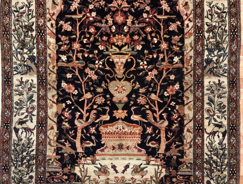 Fantastic Floral - 1890s Antique Oriental Rug - Handmade Carpet - 4.8 X 7 Ft.