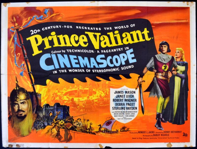 PRINCE VALIANT 1954 James Mason, Janet Leigh, Robert Wagner  UK QUAD POSTER