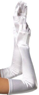 Satin Handschuhe extra lang weiss Leg Avenue Gr. 38-40 Hochzeit Damen