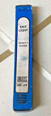 Lot Of 2 Exit Light Bulbs. 20 Watt Clear - Vintage Extra