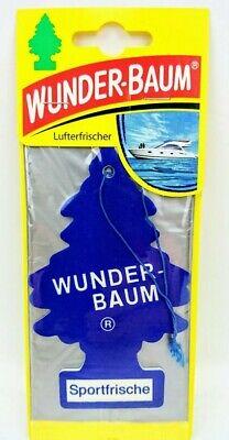 6 xStück Original Wunderbaum  Sportfrische Lufterfrischer Autoduft (0.83€/Stück)