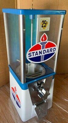 Vintage Older Oak Acorn Standard Gas Oil Gumball Machine Super Cool