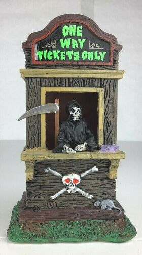 LEMAX Spooky Town Village One Way Tickets Only 2014 Grimm Reaper #43066 No Box
