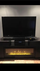 Sharp Aquos TV & Fireplace/TV Stand