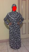Abaya with headscarf attached
