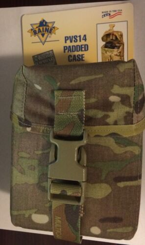 Raine Inc US Military Multicam OCP PVS14 NVG Padded Case/Pouch # 52PVS14MC NWT
