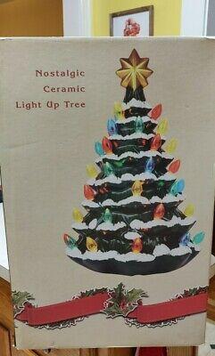Nostalgic Ceramic Light Up Tree