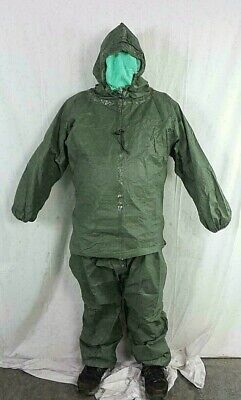 Military Scalp Contamination Avoidance Liquid Protection Suit Ponchotrousers