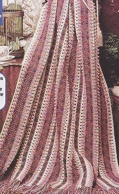 - Crochet Pattern ~ GINGERBREAD STRIPES Afghan ~ Instructions
