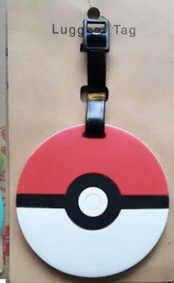 "Pokemon Pokeball Luggage Tag 3.5"" US Seller"