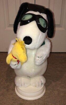 Peanuts Snoopy Red Barron Pilot Christmas Animated Display, 1998 Vintage