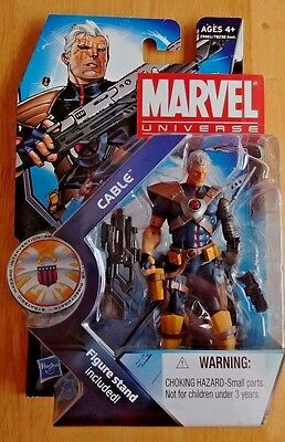 """Hasbro Marvel Universe - CABLE 3.75"""" Action Figure, Series 3 #007 - Sealed NOC"""