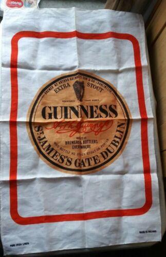 GUINNESS, EXTRA STOUT ST.JAMES GATE DUBLIN TEA TOWEL IRISH LINEN MADE IN IRELAND