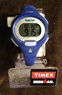 New Timex Women's Ironman Essential 10 Mid-Size Watch, Blue Resin Strap