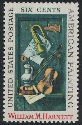 Scott 1386- William Harnett, American Painting - MNH 6c 1969- unused mint stamp