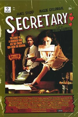 Secretary Original Single-Sided One Sheet Rolled Movie Poster 27x40 NEW 2002