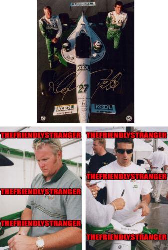 PAUL TRACY & DARIO FRANCHITTI signed CART 8X10 Photo PROOF - Team Kool Green COA