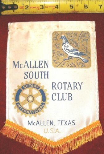 VINTAGE Rotary International Club wall banner         MCALLEN  SOUTH  TEXAS