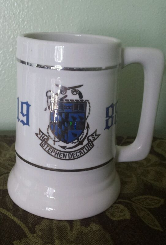 VINTAGE 1988 STEPHEN DECATUR HIGH SCHOOL MARYLAND CERAMIC BEER MUG STEIN