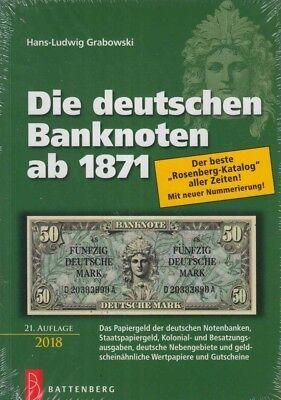 Battenberg (Rosenberg)-Katalog: Die deutschen Banknoten ab 1871, 21.Auflage 2018