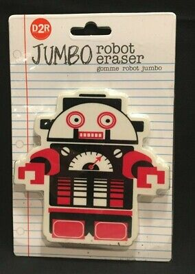 Giant Jumbo Robot Collectible Eraser Stuff Kids Fun Character Erase 27635