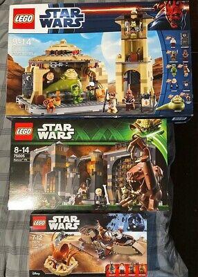 Lego Star Wars Jabba's Palace, Rancor Pit, Desert Skiff (9516, 75005, 75174)