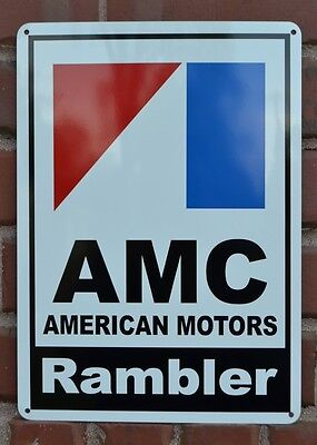 AMC RAMBLER Sign 71 Pacer AMX Garage Mechanic Parts Shop Jeep Advertising 10day
