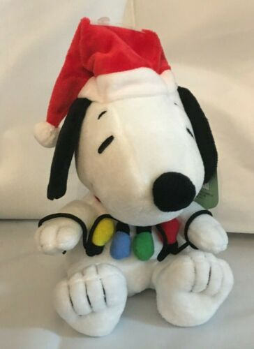 Hallmark Christmas SNOOPY Plush 2020 ~ Snoopy Tangled in Christmas String Lights