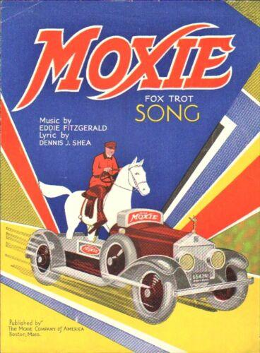 MOXIE Horse Automobile Car 1930 Advertising Fox Trot SCARCE Sheet Music!