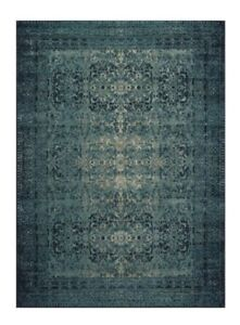 8x10 Loloi Blue /Green Vintage Style Wool Rug $500 or Best Offer