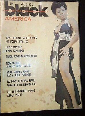 BLACK AMERICA MAGAZINE - Vol 3 No 2 Aug 1972 - Miss Black Texas on Cover - RARE