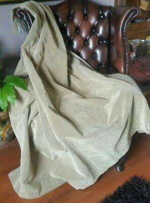 Vintage Sand Beige nylon velvet curtain W-62' X L-71'.