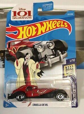 Disney Hot Wheels Cruella  De Vil New In Sealed - Disney Cruella De Vil