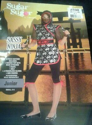 Sugar Sugar Sassy Ninja Hot! Halloween Costume  S 3-5