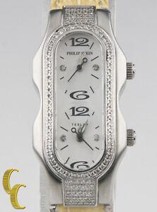 Philip Stein Signature Teslar Mini Stainless Steel Quartz Two Dial Diamond Watch