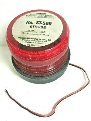North American Signal Red Strobe Light St500 12v B010