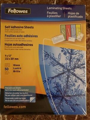 "Fellowes CRC52215 Laminating Pouches 9"" x 12"" 50 Sheets"