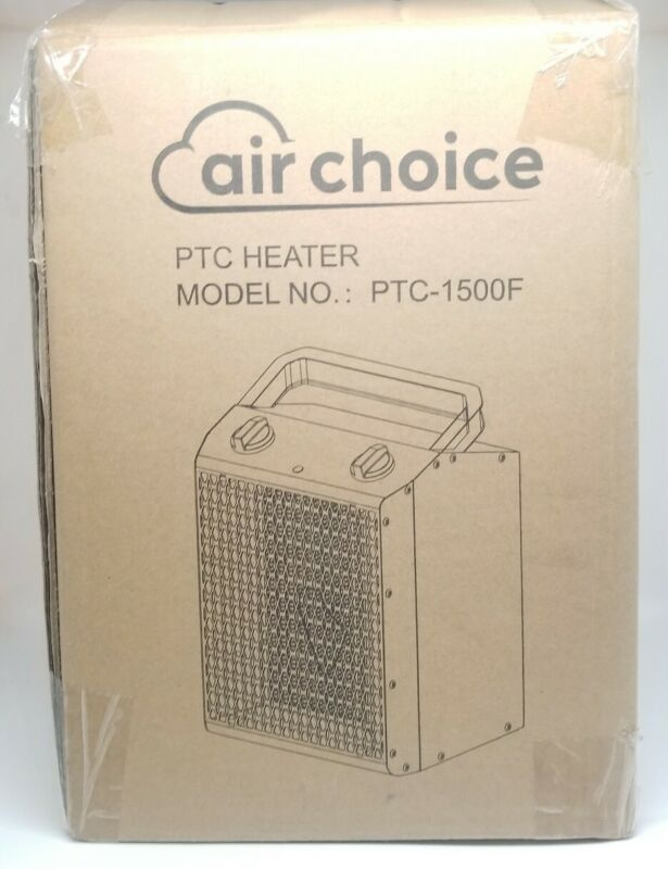 Air Choice Ceramic Portable Electric Space Heater Adjustable Thermostat Ptc-1500