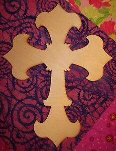 UNFINISHED WOOD CROSS FLANGE style 11'' tall Quantity 10