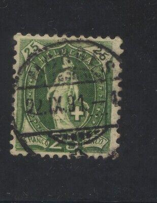 Switzerland Scott 83b. Zumstein 67C. used. CV $7.75