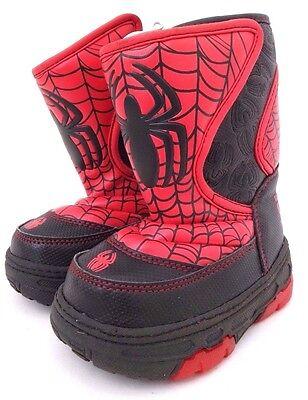Marvel SpiderMan Boys Kids Warm Winter Snow Light-Up Boots Size S 5/6